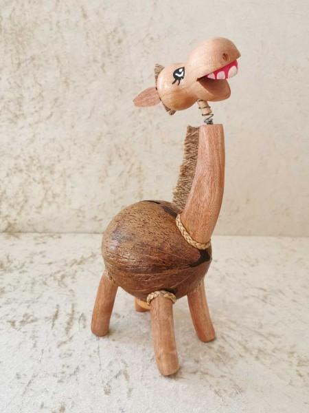 Kokos-Spardose Pferd