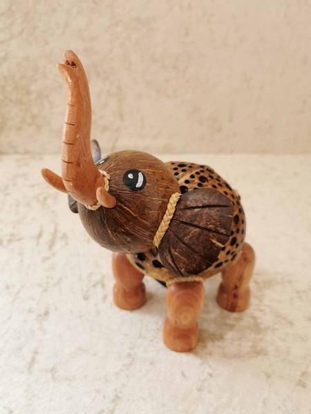 Kokos-Tierlampe Elefant, stehend
