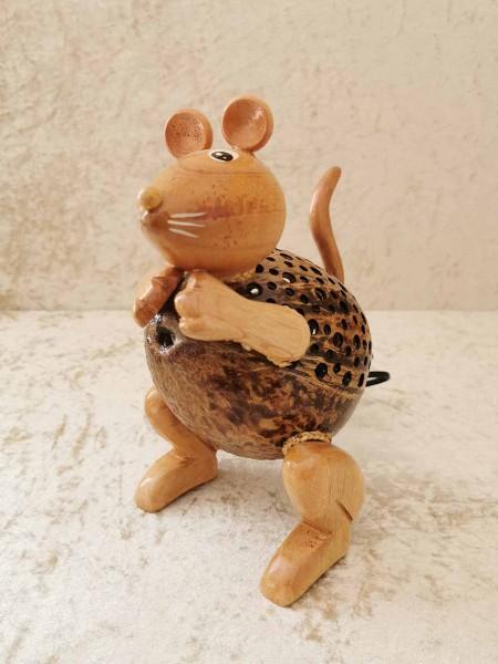 Kokos-Tierlampe Maus