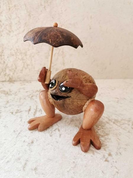 Kokos-Spardose Frosch