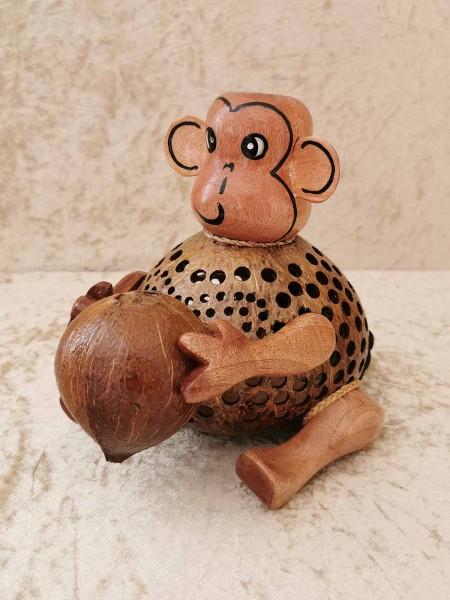 Kokos-Tierlampe Affe, sitzend