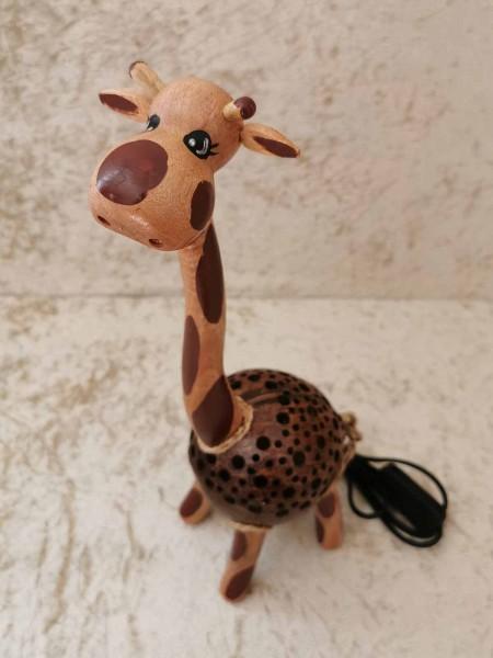 Kokos-Tierlampe Giraffe, klein, stehend