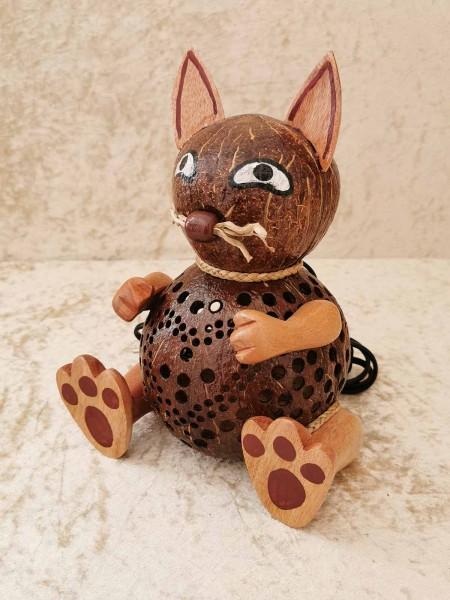 Kokos-Tierlampe Katze