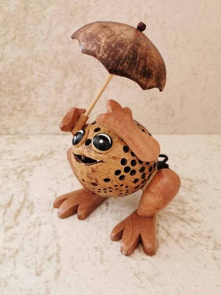 Kokos-Tierlampe Frosch