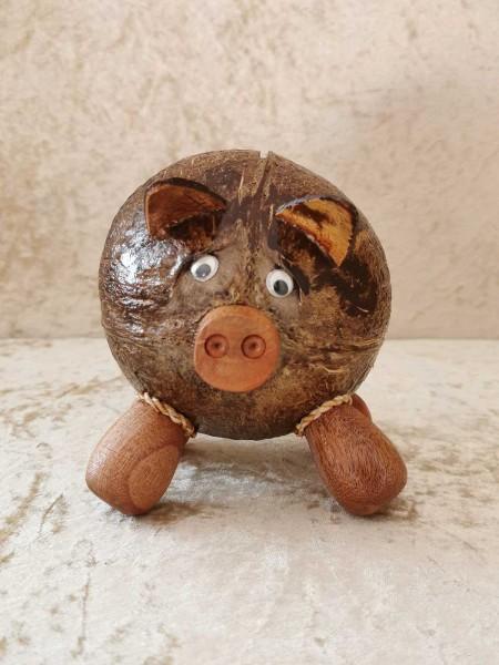 Kokos-Spardose Schwein