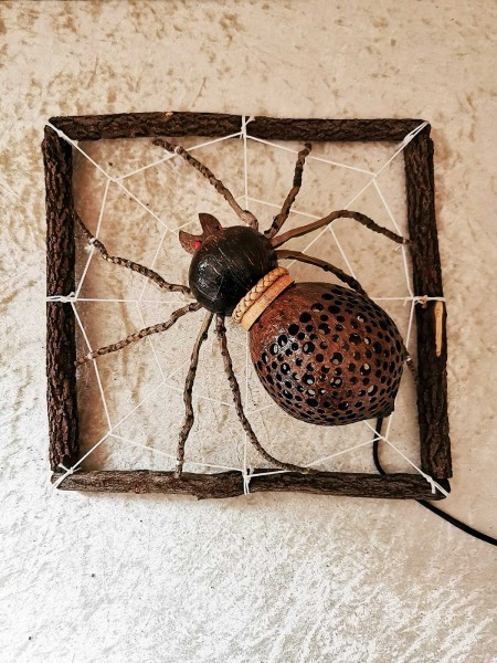 Kokos-Tierlampe Spinne