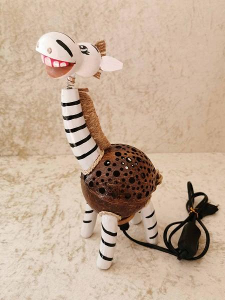 Kokos-Tierlampe Zebra