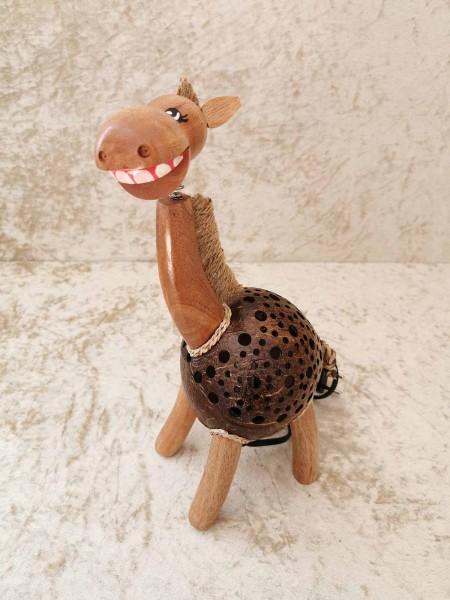Kokos-Tierlampe Pferd