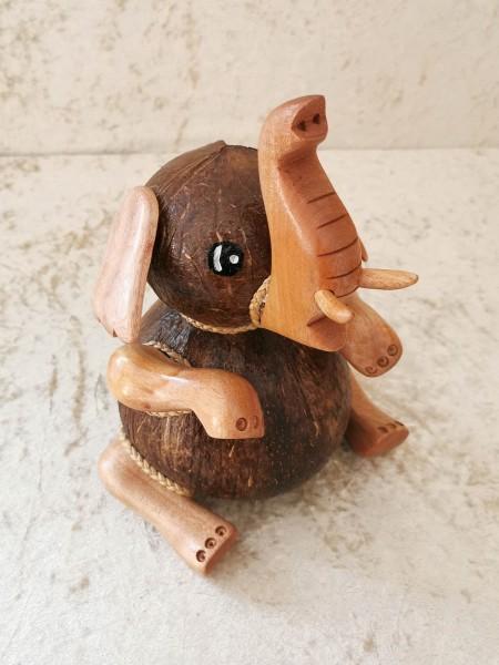 Kokos-Spardose Elefant