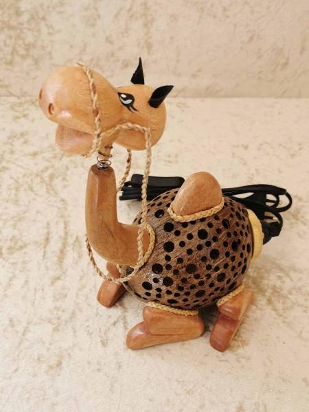 Kokos-Tierlampe Kamel, sitzend