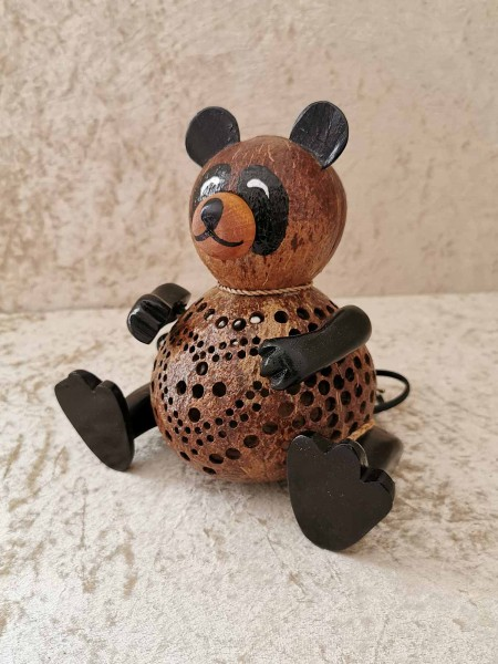 Kokos-Tierlampe Panda-Bär