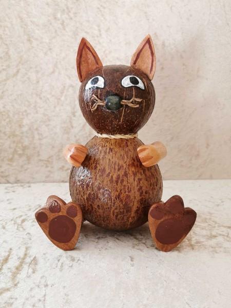 Kokos-Spardose Katze