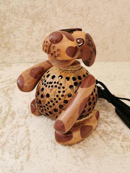 Kokos-Tierlampe Hund