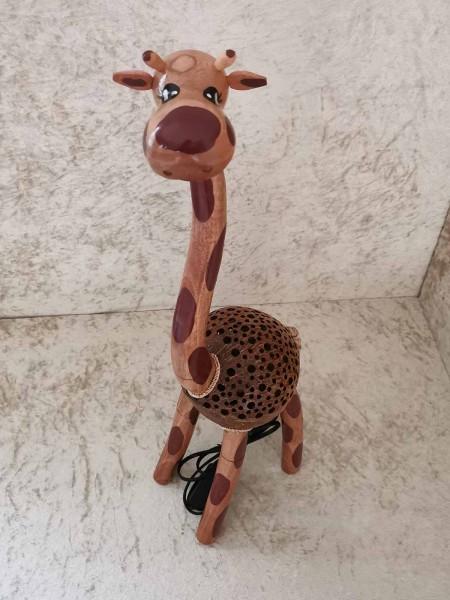 Kokos-Tierlampe Giraffe, 60cm