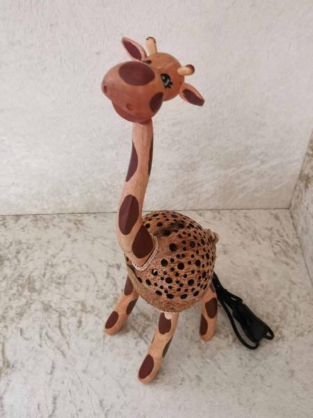 Kokos-Tierlampe Giraffe, 40cm