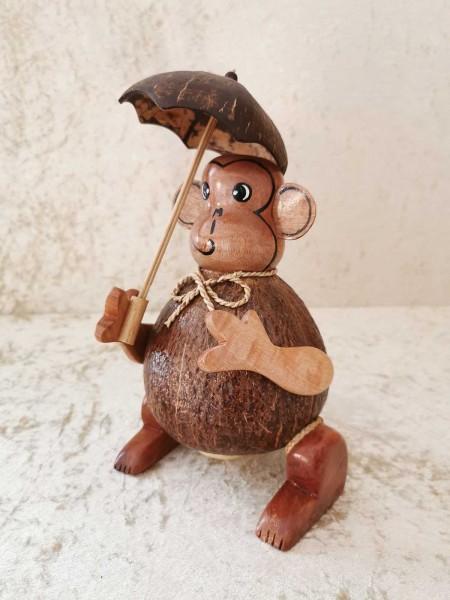 Kokos-Spardose Affe