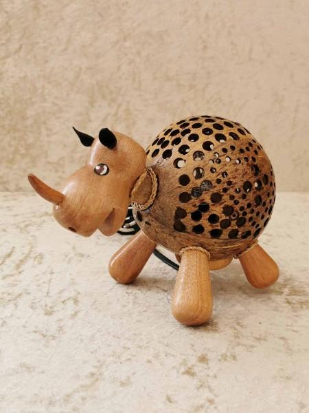 Kokos-Tierlampe Nashorn
